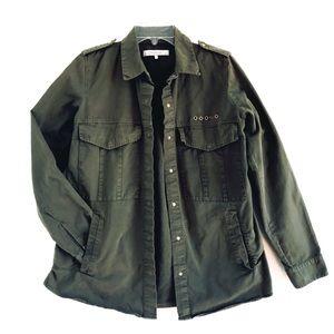 Zara Trafaluc Olive Green Utility Jacket Sz Small